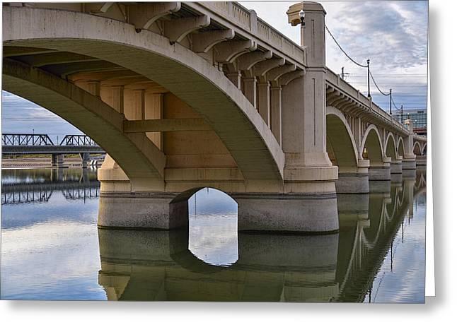 Mill Avenue Bridge In Tempe Arizona Color Greeting Card by Dave Dilli