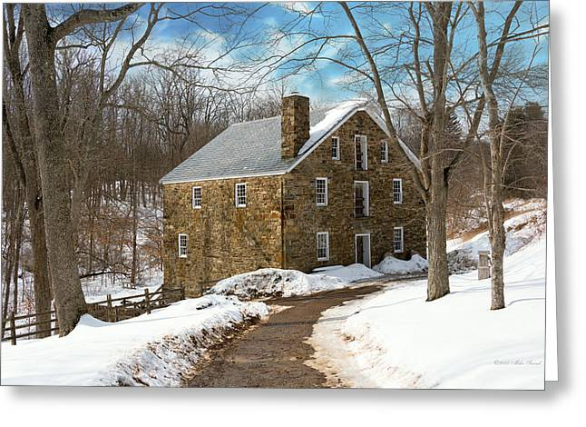 Mill - Cooper Grist Mill Greeting Card by Mike Savad