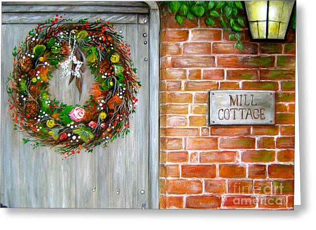 Mill Cottage Greeting Card by Patrice Torrillo
