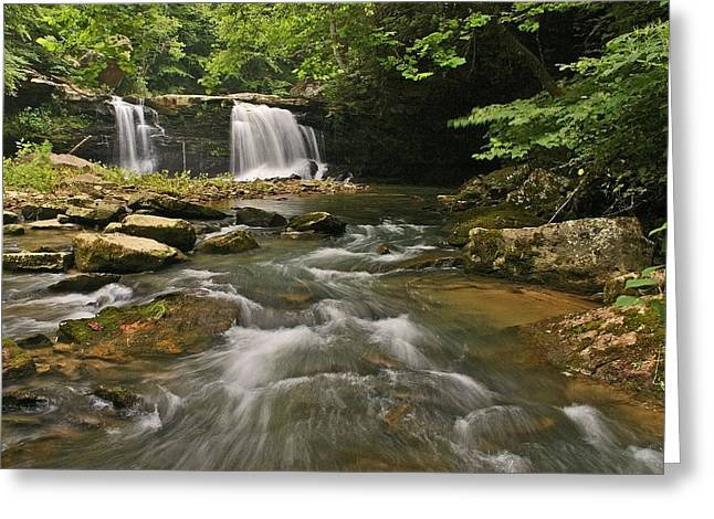 Mill Creek Falls  West Virginia Greeting Card