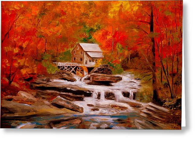 Mill Creek Greeting Card by Phil Burton