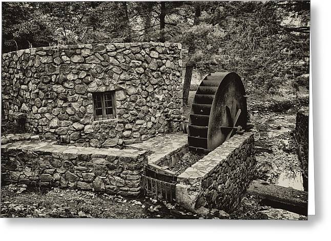 Mill Creek Water Wheel Greeting Card