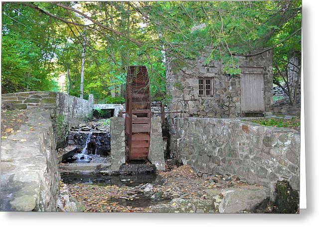 Mill Creek Waterwheel  Greeting Card by Bill Cannon