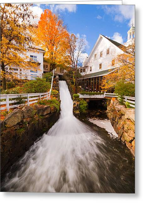 Greeting Card featuring the photograph Mill Falls by Robert Clifford