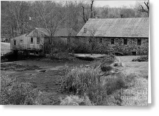 Mill In Black And White Greeting Card