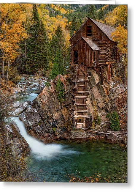 Mill In The Mountains Greeting Card