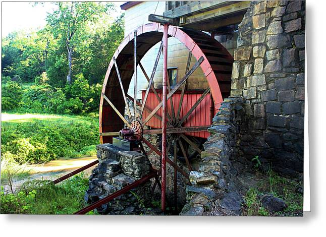 Mill Of Guilford Water Wheel Greeting Card