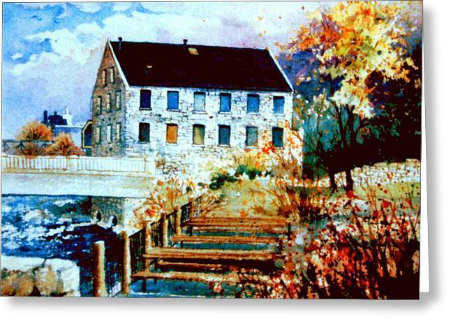 Mill Race Park Greeting Card by Hanne Lore Koehler