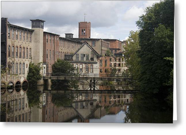 Mill Reflection Greeting Card by Jeff Porter