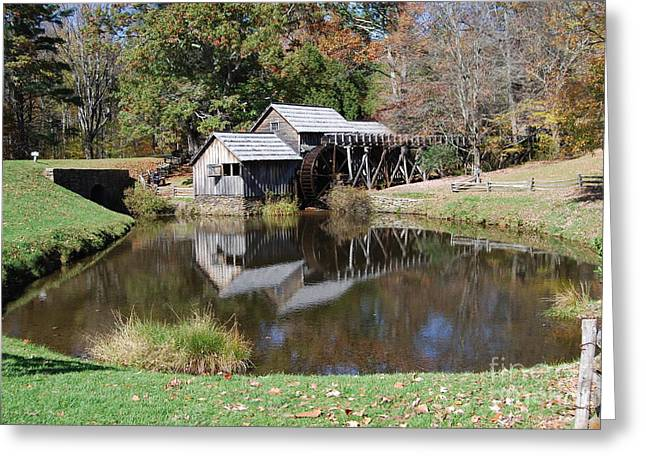 Mill Reflections Greeting Card by Eric Liller