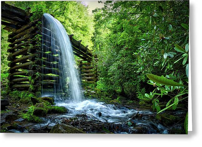 Mill Spillway In The Smoky Mountains Greeting Card by Jody Claborn