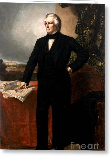 Millard Fillmore Greeting Card by Celestial Images
