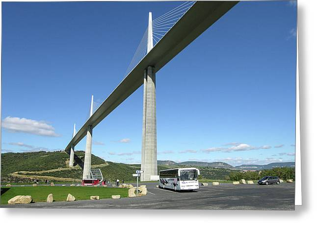 Greeting Card featuring the photograph Millau Viaduct by Jim Mathis