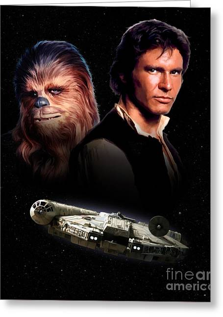 Han Solo - Millenium Falcon Greeting Card