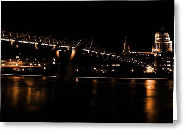 Millennium Bridge 098 Greeting Card by Gull G