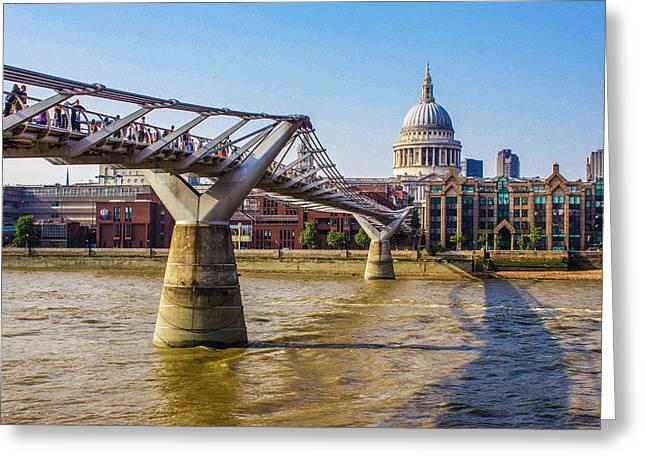 Millennium Bridge And St. Paul's Greeting Card