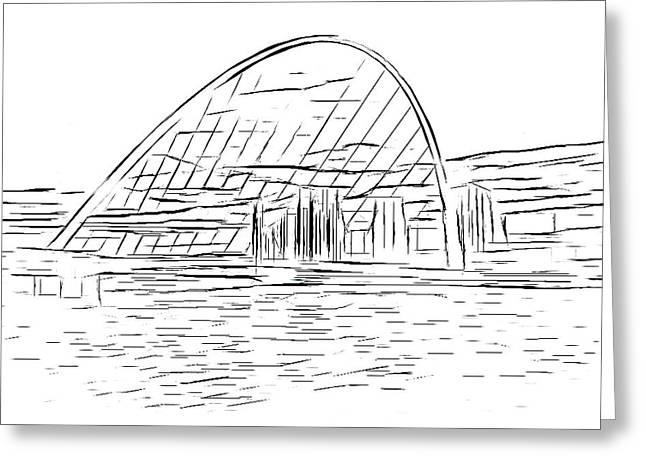 Millennium Bridge Digital Art Greeting Card by Nichola Denny
