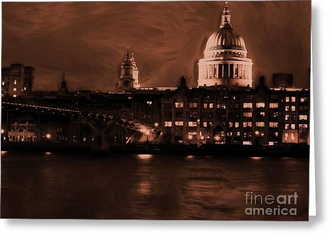 Millennium Bridge - London Greeting Card by Gull G