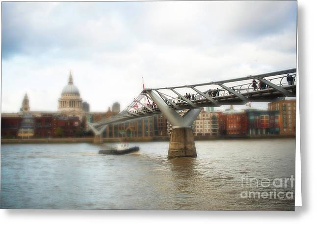 Millennium Bridge Over Thames Greeting Card