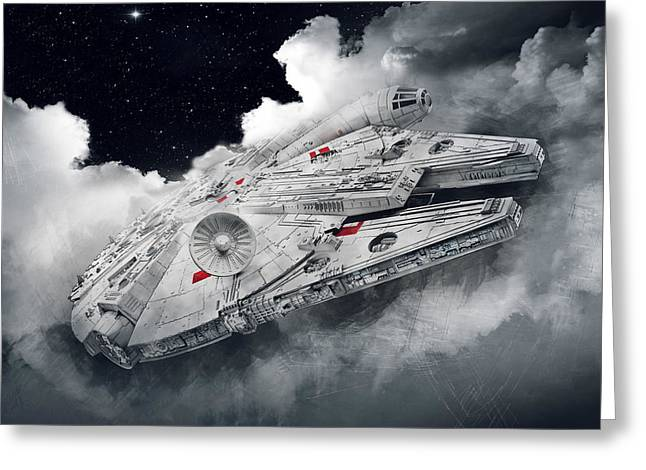 Millennium Falcon Greeting Card