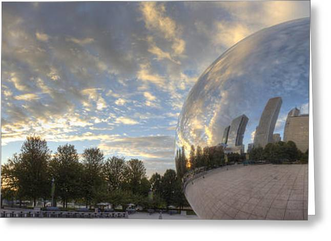 Millennium Park Reflection Greeting Card by Twenty Two North Photography