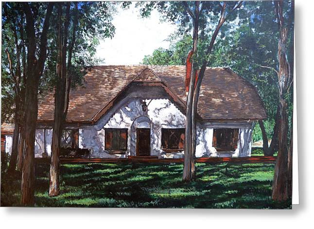 Greeting Card featuring the painting Miller Homestead by Tom Roderick