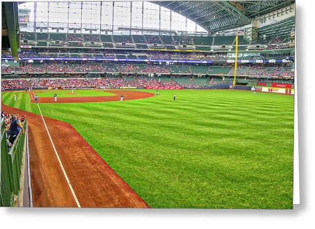 Miller Park 2 - Milwaukee - Wisconsin Greeting Card by Steven Ralser