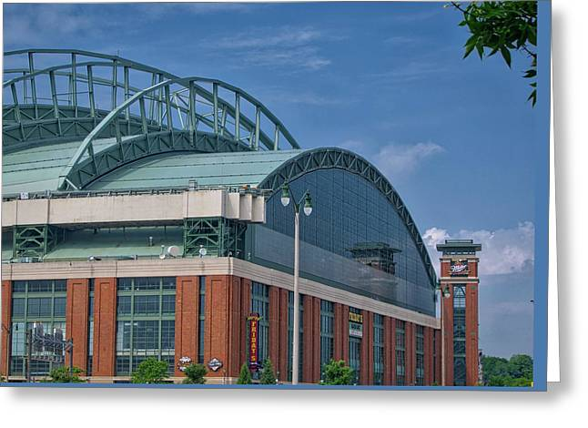 Miller Park - Home Of The Brewers - Milwaukee - Wisconsin Greeting Card by Steven Ralser
