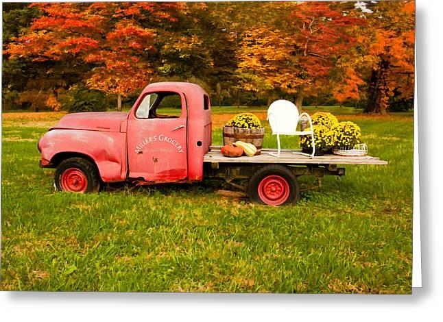 Millers Truck Greeting Card by Paul Bartoszek