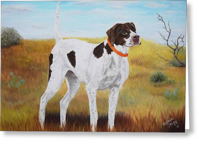Milley, Pure Perfection Greeting Card by Belinda Nagy