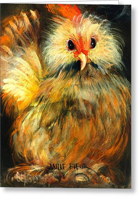 Millie Greeting Card by Sally Seago