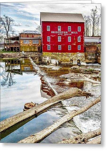 Milling Reflections Greeting Card by Brent Tindall