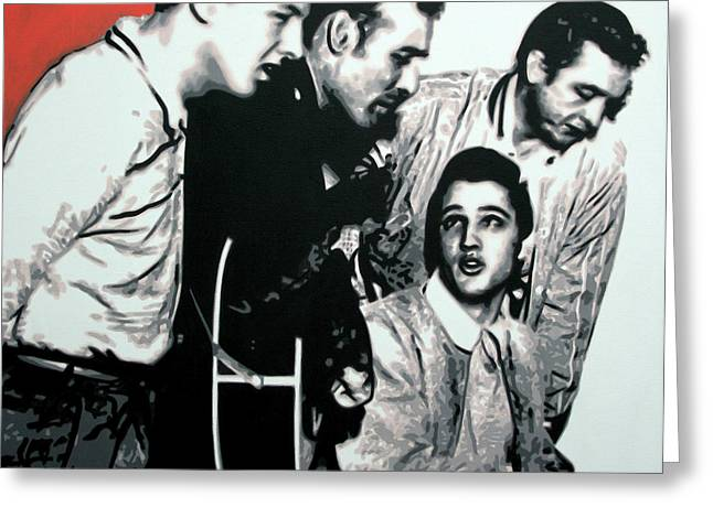 Million Dollar Quartet Greeting Card