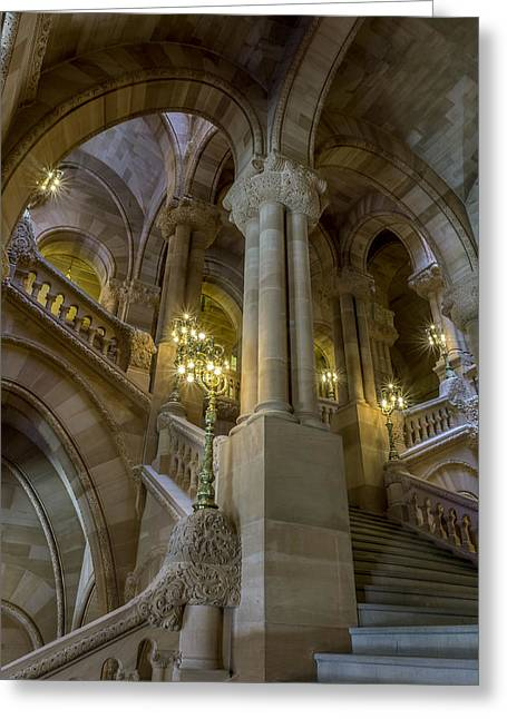 Million Dollar Staircase Greeting Card