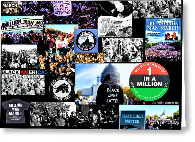 Million Man March Montage Greeting Card