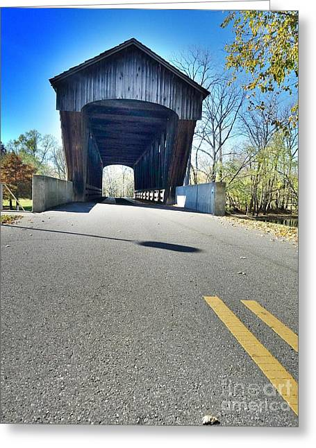 Millrace Park Covered Bridge - Columbus Indiana Greeting Card