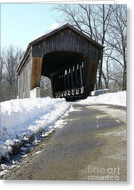 Millrace Park Old Covered Bridge - Columbus Indiana Greeting Card