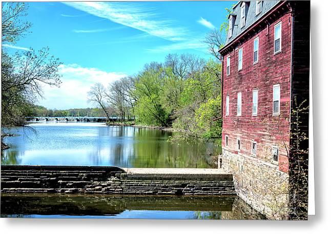 Millstone River View Greeting Card by John Rizzuto