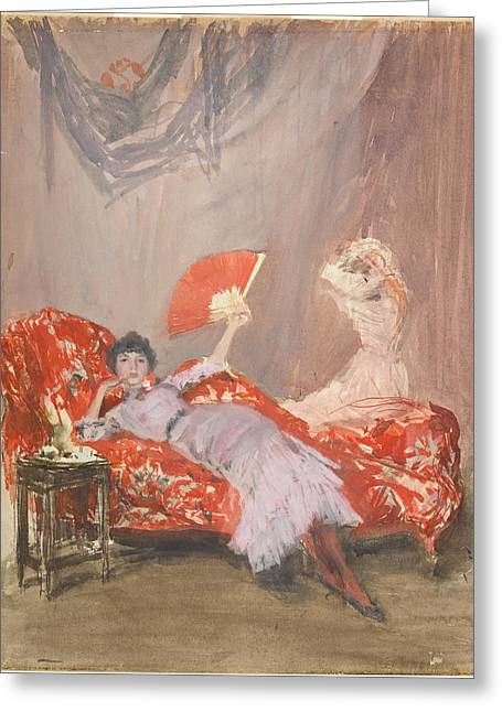 Milly Finch Greeting Card by James McNeil Whistler