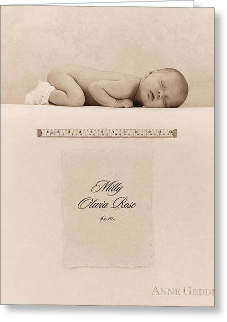 Milly Olivia Rose Greeting Card by Anne Geddes