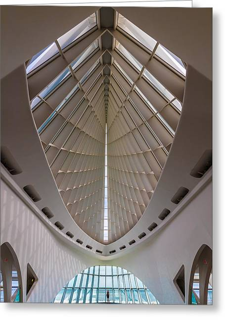 Milwaukee Art Museum Hall Greeting Card by Steve Gadomski