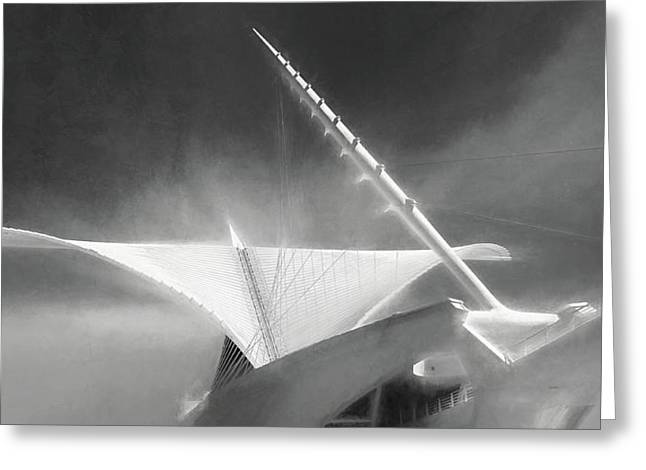 Milwaukee Art Museum September Greeting Card by Scott Norris