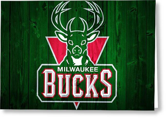 Milwaukee Bucks Barn Door Greeting Card