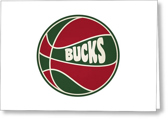 Milwaukee Bucks Retro Shirt Greeting Card