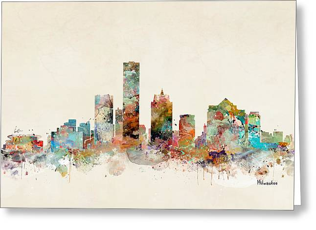 Milwaukee City Skyline Greeting Card