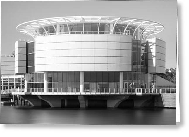 Milwaukee Panorama Picture In Black And White Greeting Card by Paul Velgos