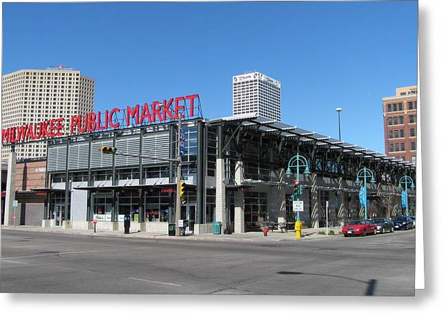 Milwaukee Public Market 1 Greeting Card by Anita Burgermeister