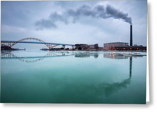 Milwaukee Reflected Greeting Card