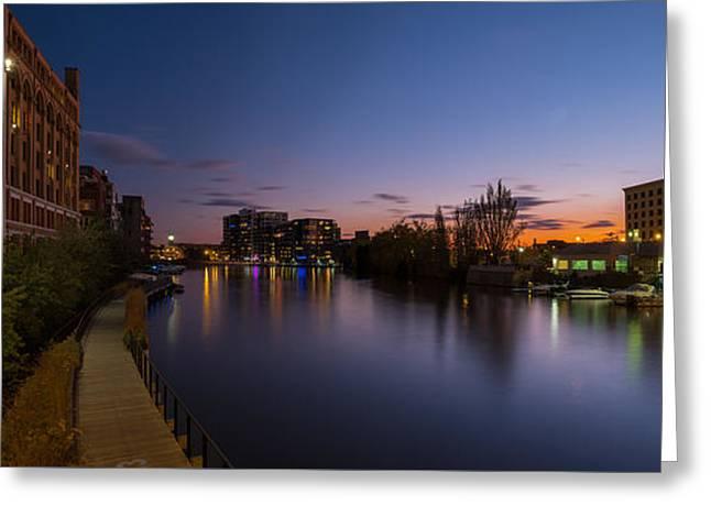 Milwaukee Riverwalk Greeting Card
