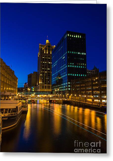 Milwaukee Twilight Glow Greeting Card